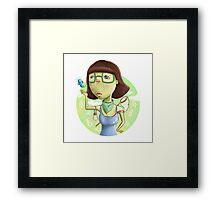 cute women Framed Print