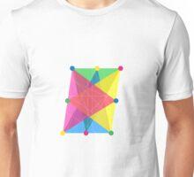 Crisscross Slanted Rectangle Unisex T-Shirt