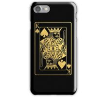 The Golden King of spades iPhone Case/Skin