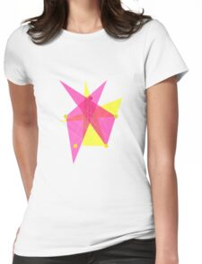 Abstract Pentagon Womens Fitted T-Shirt