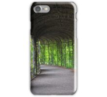 romantic garden walkway forming a tunnel of tree iPhone Case/Skin