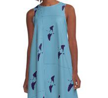 Ibis Flight - blueberry A-Line Dress