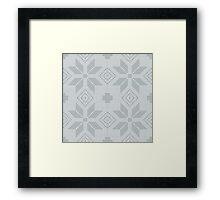 Vintage Blue Embroidery Pattern Framed Print