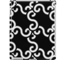 White on Black Connection iPad Case/Skin
