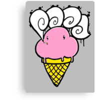 ice cream smoker Canvas Print