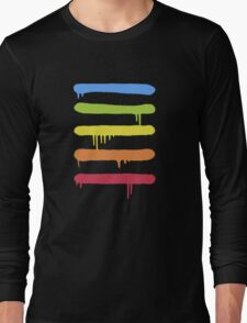 Trendy Cool Graffiti Tag Lines Long Sleeve T-Shirt