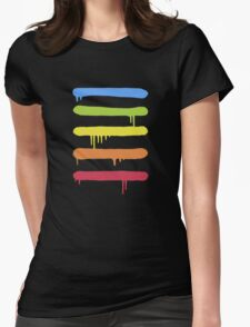 Trendy Cool Graffiti Tag Lines Womens Fitted T-Shirt