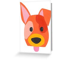 Cheeky dog sticking out its tongue! Greeting Card