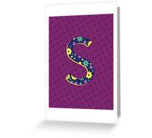 Flower Letter S Greeting Card