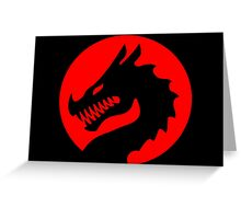 Red Luck Dragon Design, Luck Dragon Gifts Logo Design Greeting Card