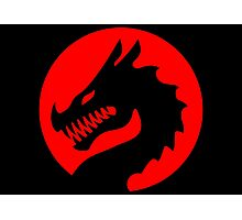 Red Luck Dragon Design, Luck Dragon Gifts Logo Design Photographic Print