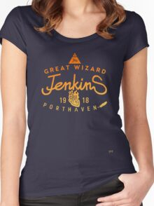 THE GREAT WIZARD JENKINS - burningheart Women's Fitted Scoop T-Shirt