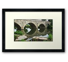 The Old Toll Bridge. Framed Print