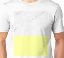 Marble And Yellow Unisex T-Shirt