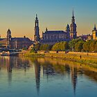 Germany. Dresden. View from the bridge at Sunrise. by vadim19