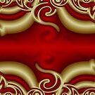 Red Wine Scroll by Kinnally