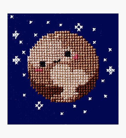Cross Stitch Pluto Loves You Photographic Print