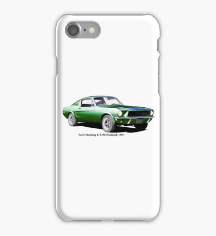 Ford Mustang GT390 Fastback 1967 iPhone Case/Skin