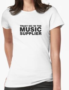 Music supplier black Womens Fitted T-Shirt