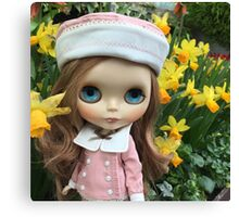 Blythe by the daffodils Canvas Print