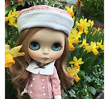 Blythe by the daffodils Photographic Print