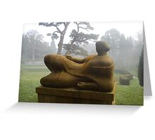 Henry Moore In The Mist Greeting Card