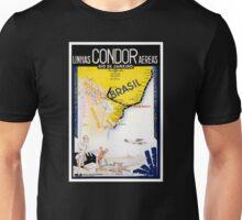 Brazil Rio Vintage Travel Poster Restored Unisex T-Shirt