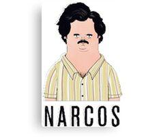 Pablo Escobar Scetch Canvas Print