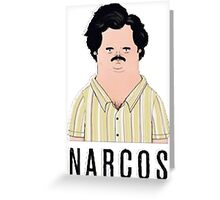 Pablo Escobar Scetch Greeting Card