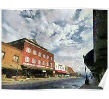 Parting Clouds Over Franklin, NC Poster