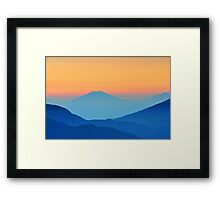 Moutain Silhouettes Framed Print