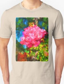 The Pink Rose next to the Brick Wall Unisex T-Shirt