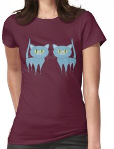 A PAIR OF PURRING CATS Womens Fitted T-Shirt