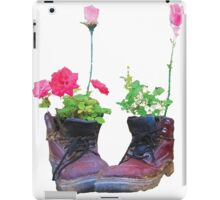 Old shoes with flowers iPad Case/Skin