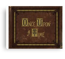 Once Upon a Time - Henry's Book Canvas Print