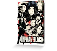 Orphan Black - Noir Greeting Card