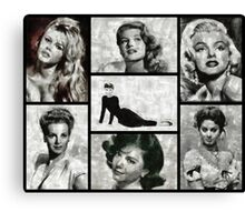 Screen Sirens - Hollywood Legendary Actresses Canvas Print
