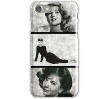 Screen Sirens - Hollywood Legendary Actresses iPhone Case/Skin