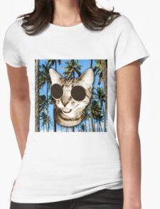 Cool Cat Womens Fitted T-Shirt