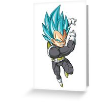Super Saiyan Blue Vegeta  Greeting Card