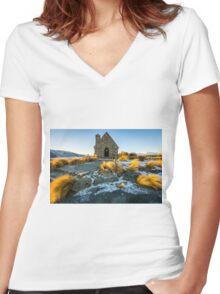 The Good Shepherd Church Women's Fitted V-Neck T-Shirt