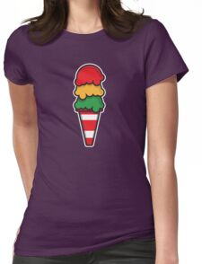 Traffic Cone Ice Cream Womens Fitted T-Shirt