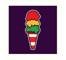 Traffic Cone Ice Cream Art Print