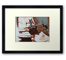 He Went That'a Way! Framed Print