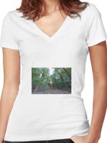 Sunburst Women's Fitted V-Neck T-Shirt