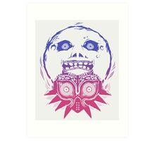 Majora's mask - Colour Gradient  Art Print