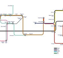 Pokemon - London Underground Magnet Train Map by TheBlueOwl