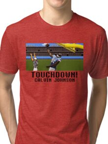Tecmo Bowl Touchdown Calvin Johnson Tri-blend T-Shirt