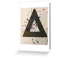 Bastille paint splattered triangle  Greeting Card