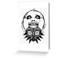 Majora's mask - Black Greeting Card